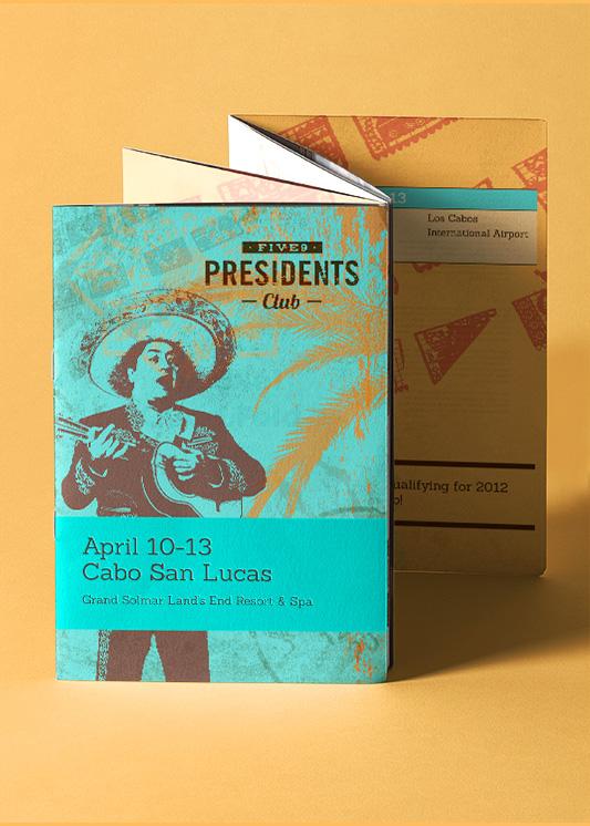 Five9 Presidents Club Pocket Agenda designed by Giselle Dale