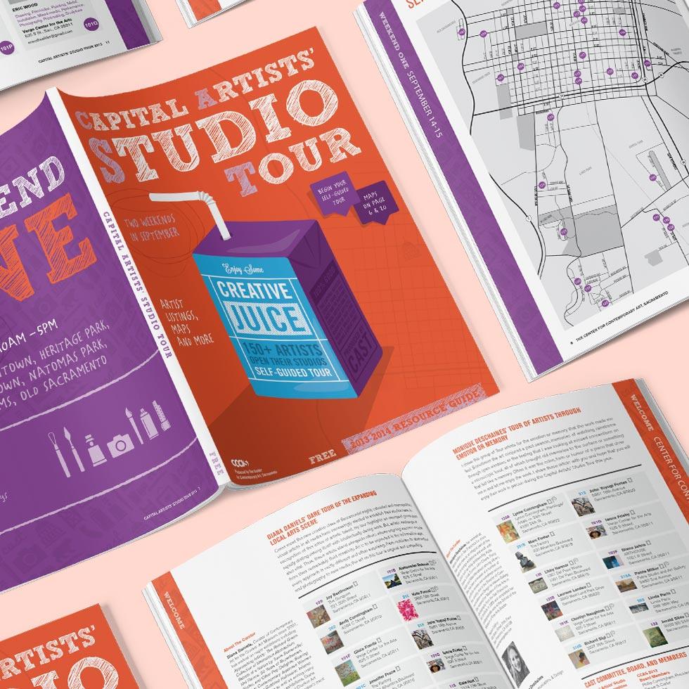 Capital Artists' Studio Tour Magazine designed by Giselle Dale